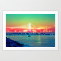 sailboat Art Prints featuring Sailboat by Ekrem Emre Ünlü