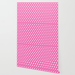 Hot Pink Polka Dots Wallpaper