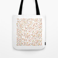 giraffes Tote Bags featuring Giraffes by Alison Sadler's Illustrations