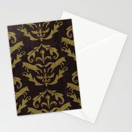 Fox Damask Stationery Cards