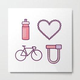 I ♥ 2 Ride U (Color Option) Metal Print