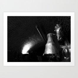 Bronze Horse Art Print