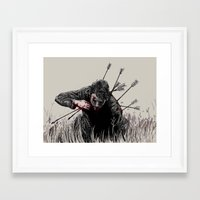 alt j Framed Art Prints featuring alt-j hunger of the pine by isaiane