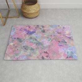 Pink Blush Abstract Rug