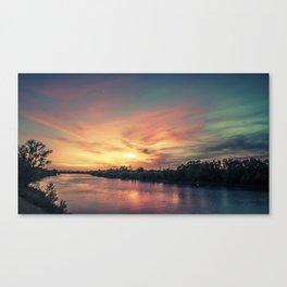 Sunset River - Sacramento River Canvas Print