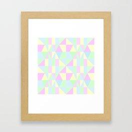 SWEET PIE PASTEL PATTERN Framed Art Print