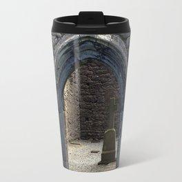View of Grave Through Door of Irish Ruins v.3 Travel Mug