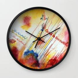God is Beautiful Wall Clock