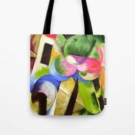 "Franz Marc ""Small Composition II also known as House with Trees) (Haus mit Bäumen) Tote Bag"