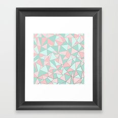 Ab Out Mint and Blush Framed Art Print