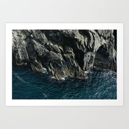 Sea meets rock at Mizen Head Art Print