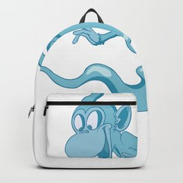 Funny Cute Blue Monkey Ghost Backpack