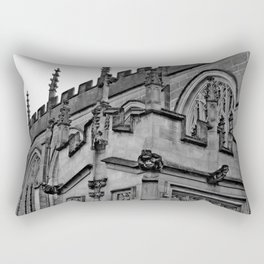 B&W Church Facade Rectangular Pillow