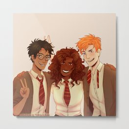 HP TRIO REDRAW Metal Print