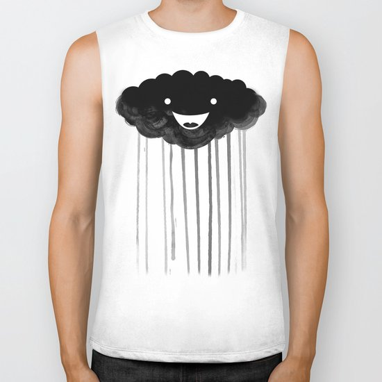 dark cloud Biker Tank