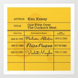 KEN KESEY (1962) Art Print