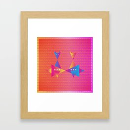 Music in Monogeometry : Fleet Foxes Framed Art Print