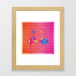 Music in Monogeometry : Fleet Foxes Framed Art Print