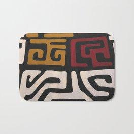 African Mudcloth Print Bath Mat