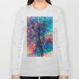 Love Birds Abstract #society6 #decor #lovebirds by Lena Owens @OLena Art Long Sleeve T-shirt