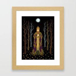 Kriemhild's Revenge (Lady with Sword) Framed Art Print