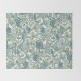 hexagon city Throw Blanket