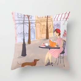Springtime in Paris Throw Pillow