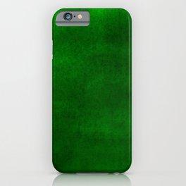 Grunge green iPhone Case