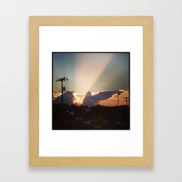 Sunset in Matthews, NC Framed Art Print