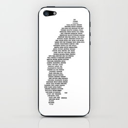 Cities in Sweden - white iPhone Skin