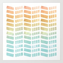 Ombre pattern Art Print