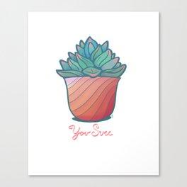 U Succulent Canvas Print
