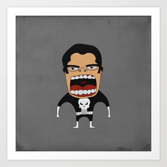 Screaming Punisher Art Print