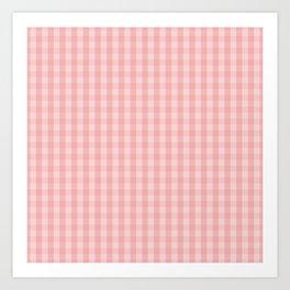 Large Lush Blush Pink Gingham Check Plaid Art Print