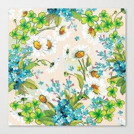 Adorable white sunflower texture Canvas Print