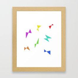 Simple butterfly Framed Art Print
