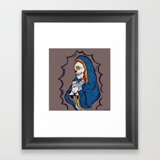 The Ojeros Ticked Virgin Mary  Framed Art Print