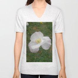 White Flower (California Poppy) Unisex V-Neck