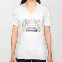 bmw V-neck T-shirts featuring BMW e36 by dareba