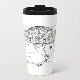 Hedgehog in a Hat Metal Travel Mug