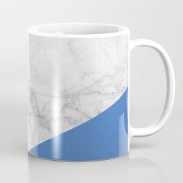 White Marble - Black Granite & Blue #509 Coffee Mug