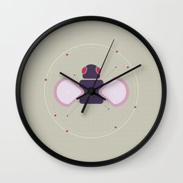 Peacefully Flattened Bugs Series | #01 Fly Wall Clock