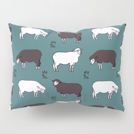 Sheep spread green Pillow Sham