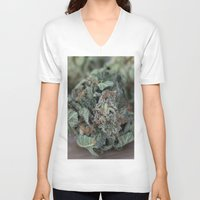 medical V-neck T-shirts featuring Master Kush Medical Marijuana by BudProducts.us