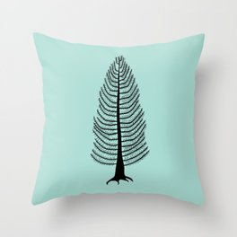 West Coast Cedar Tree Throw Pillow