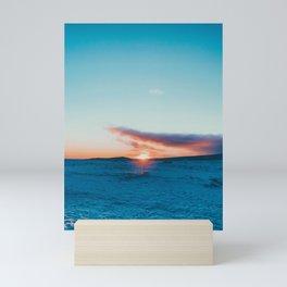 iceland sunset Mini Art Print