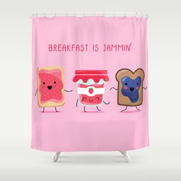Breakfast Is Jammin' Shower Curtain