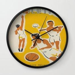 Vintage poster - Athletics Wall Clock