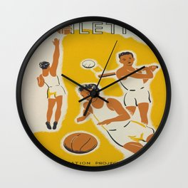 Vintage poster - Athletics Wall Clock