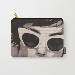 Cleverly - Feminine portrait ink drawing Carry-All Pouch